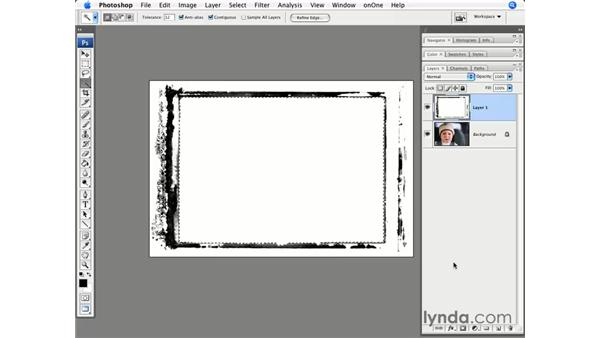 Using pre-built borders: Photoshop CS3 for Photographers