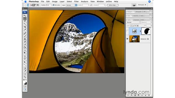 The Magnetic Lasso tool and paths: Photoshop CS3 for Photographers