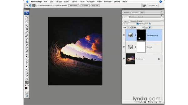 Curves and general Hue/Saturation: Photoshop CS3 for Photographers