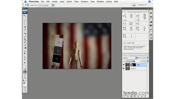 Combining multiple images and using a color chart: Photoshop CS3 for Photographers