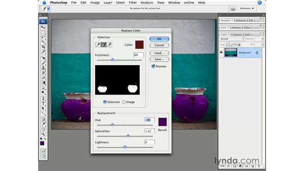 Image adjustment: Replace Color: Photoshop CS3 for Photographers