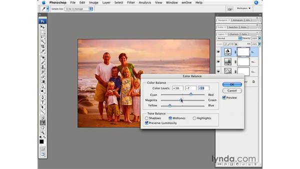 Enhancing a portrait with sunset colors: Photoshop CS3 for Photographers