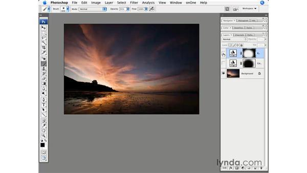 Enhancing a landscape with sunrise colors: Photoshop CS3 for Photographers