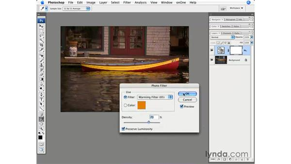 Using photo filters: Photoshop CS3 for Photographers