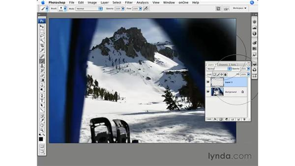 Improving composition with burning: Photoshop CS3 for Photographers