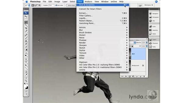 The Dust and Scratches filter: Photoshop CS3 for Photographers