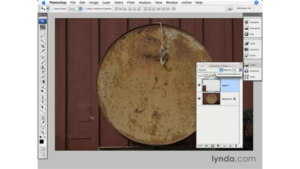 Image cleanup with what's there: Photoshop CS3 for Photographers