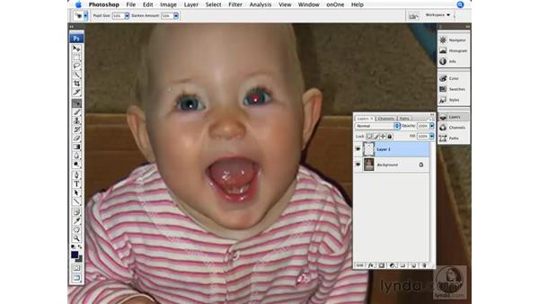 Removing red-eye: Photoshop CS3 for Photographers
