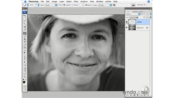 Wrinkle reductions: Photoshop CS3 for Photographers