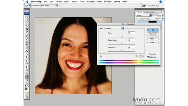 Teeth whitening: Photoshop CS3 for Photographers