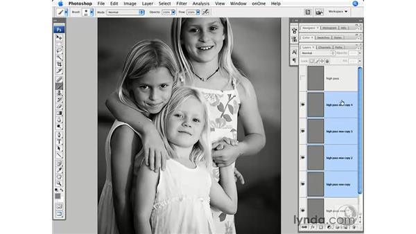 High Pass small detail sharpening: Photoshop CS3 for Photographers