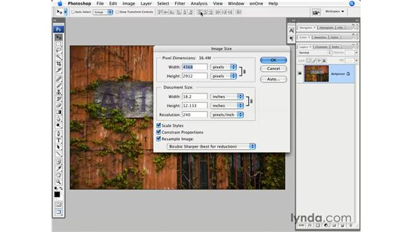 Preparing files for the web: Photoshop CS3 for Photographers