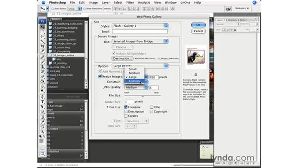 Creating a web gallery: Photoshop CS3 for Photographers