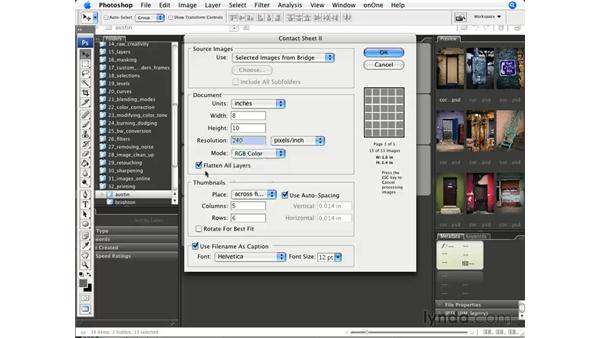 Creating contact sheets: Photoshop CS3 for Photographers