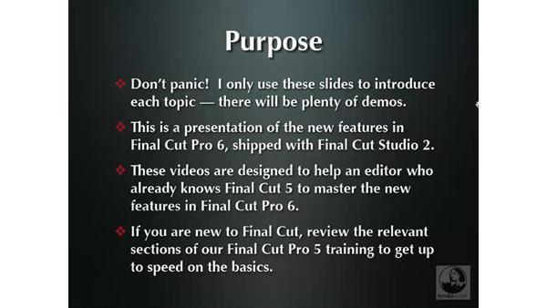 Welcome: Final Cut Pro 6 New Features