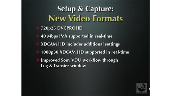 Greater video format support: Final Cut Pro 6 New Features