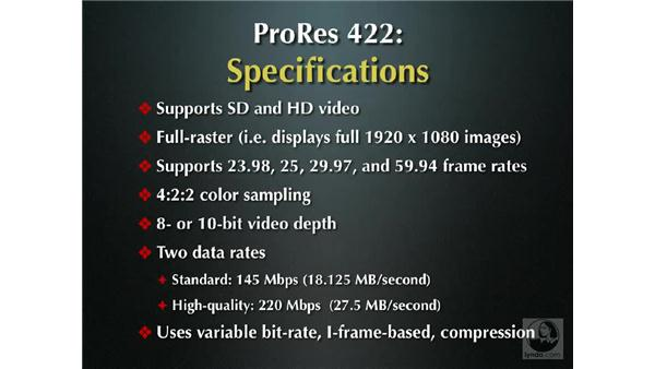 Understanding the ProRes 422 codec: Final Cut Pro 6 New Features