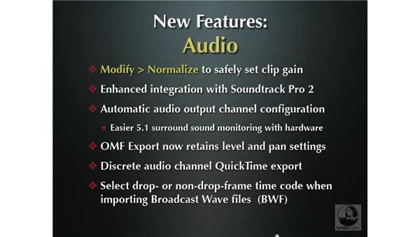 New audio features overview: Final Cut Pro 6 New Features