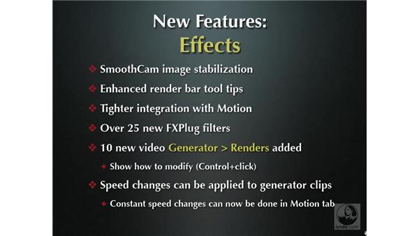 New effects features overview: Final Cut Pro 6 New Features
