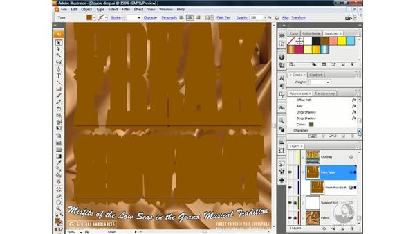 Adding and adjusting live type attributes: Illustrator CS3 One-on-One: Advanced Techniques