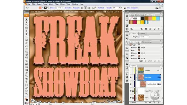 Where live type breaks down: Illustrator CS3 One-on-One: Advanced Techniques