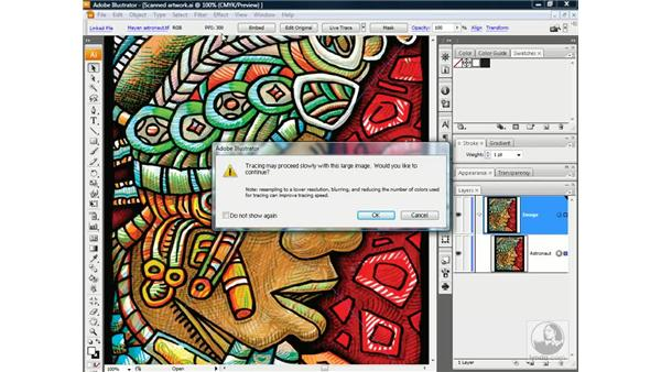 Applying and amending a Live Trace preset: Illustrator CS3 One-on-One: Advanced Techniques