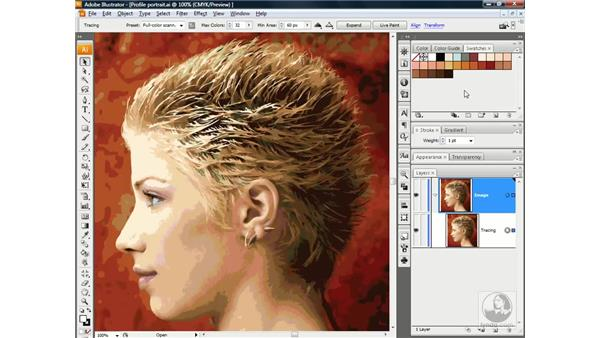Tracing portrait photography: Illustrator CS3 One-on-One: Advanced Techniques