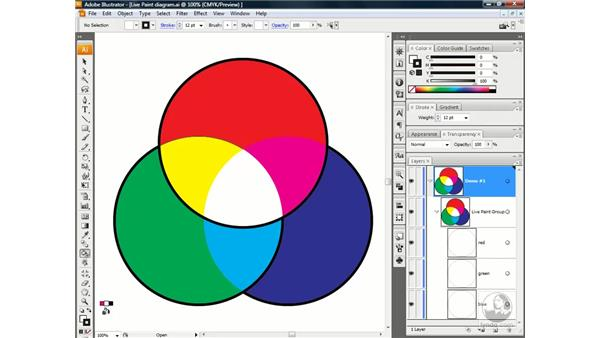 Stroking with the Live Paint Bucket: Illustrator CS3 One-on-One: Advanced Techniques