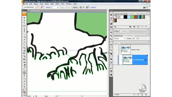Closing gaps manually: Illustrator CS3 One-on-One: Advanced Techniques