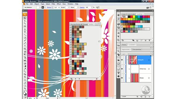Working with color groups: Illustrator CS3 One-on-One: Advanced Techniques