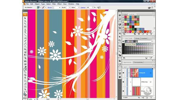 Creating a custom harmony rule: Illustrator CS3 One-on-One: Advanced Techniques