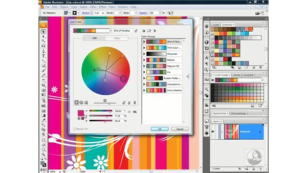 Using the Live Color dialog box: Illustrator CS3 One-on-One: Advanced Techniques