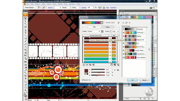 Reassigning colors in an illustration: Illustrator CS3 One-on-One: Advanced Techniques