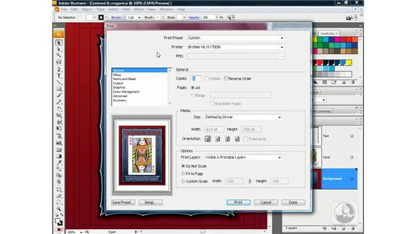 Setting the General Print options: Illustrator CS3 One-on-One: Advanced Techniques