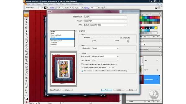 PostScript-only output and graphics: Illustrator CS3 One-on-One: Advanced Techniques