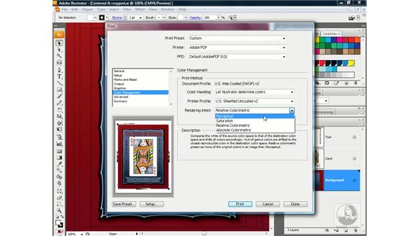 Color Management, Advanced, and Summary panels: Illustrator CS3 One-on-One: Advanced Techniques