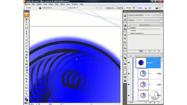 Rotating symbols and releasing to layers: Illustrator CS3 One-on-One: Advanced Techniques