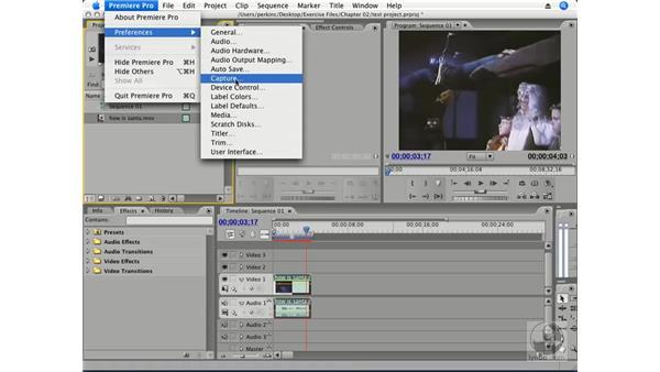 Preferences vs. project settings: Premiere Pro CS3 Essential Training