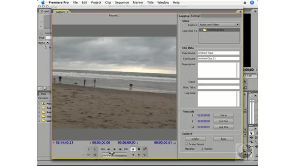 Basics of capturing footage: Premiere Pro CS3 Essential Training