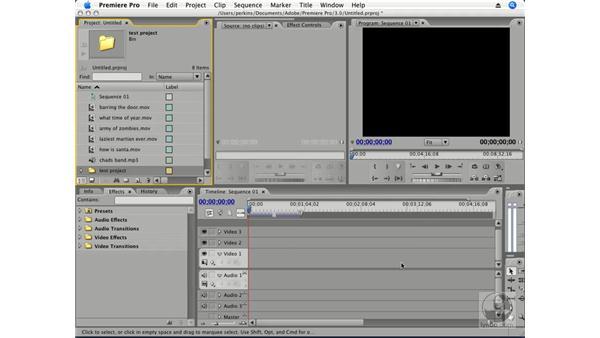 Importing files: Premiere Pro CS3 Essential Training