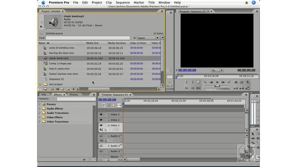 Sorting and organizing clips: Premiere Pro CS3 Essential Training