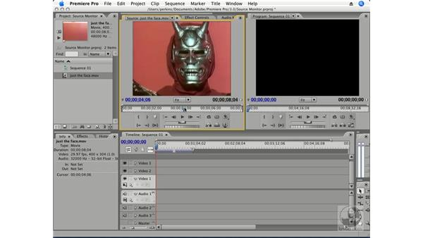 Using the Source Monitor: Premiere Pro CS3 Essential Training