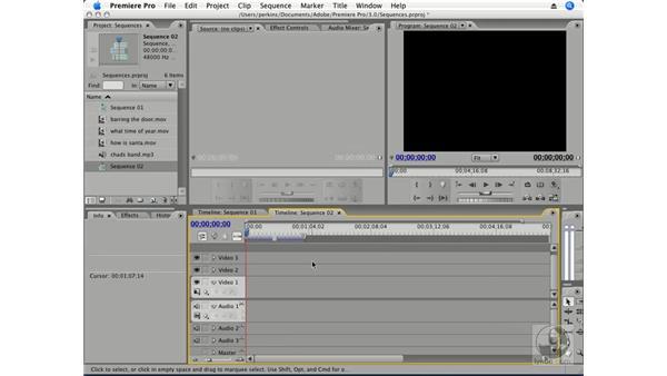 About sequences: Premiere Pro CS3 Essential Training