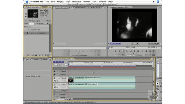 Essential shortcuts: Premiere Pro CS3 Essential Training