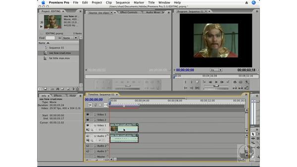 Trim edits: Premiere Pro CS3 Essential Training