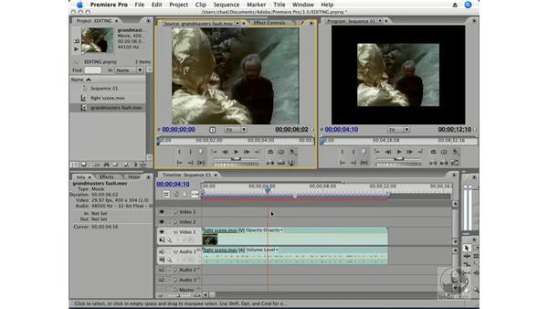 Overlay edits: Premiere Pro CS3 Essential Training