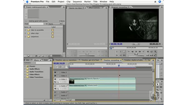 "When to ""cut"": Premiere Pro CS3 Essential Training"