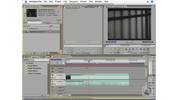 Using establishing shots: Premiere Pro CS3 Essential Training