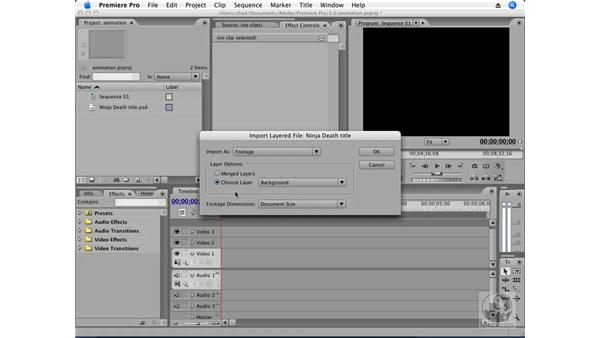 Importing Photoshop files: Premiere Pro CS3 Essential Training