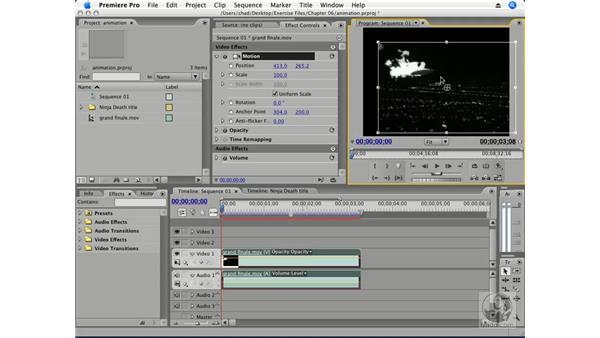 Animating motion pt. 1: Position: Premiere Pro CS3 Essential Training